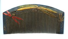 Dragon fly Japanese lacquer hair comb. (collection Miriam Slater)