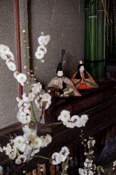Hina doll with plum blossoms by Atsuhiko Takagi on Flickr.