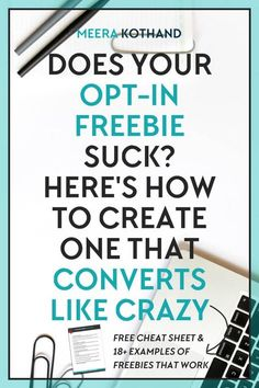 n this post I share the qualities of an effective opt-in freebie, irresistible examples as well as how to name and deliver your freebie. Social Marketing, Affiliate Marketing, Marketing Services, Email Marketing Strategy, Inbound Marketing, Marketing Digital, Content Marketing, Online Marketing, Marketing Tools