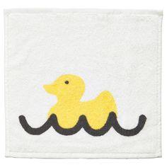 """TVINGEN Washcloth - white/yellow, 12x12 """" - IKEA $1.99 Great baby gift!"""