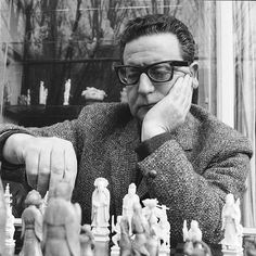 Salvador Allende, unknown photographer.  Poor guy was ousted by CIA for trying to make Chile prosperous