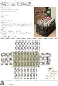 Siuke: Patrón cesto rectangular a crochet