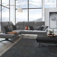 """Hochwertiges Funktionssofa """"Dortmund"""" von ADA aus Österreich mit edlem Stoffbezug in Grau und klappbaren Rückenlehnen Sectional, Decor, Couch, Furniture, Sectional Couch, Home Decor"""