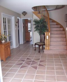 Cement floor tile design in Mocha color made by Paul Beevor with our tile moulds. The mold store; make your own & save money in the long run Concrete Stone, Concrete Pavers, Concrete Floors, Cement Tiles, Stone Veneer, Tile Design, My House, Building A House, Tile Floor