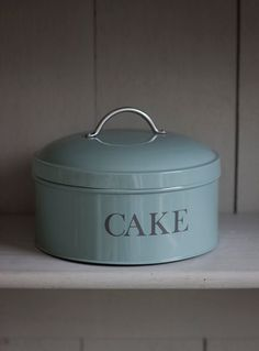 Round Cake Tin- Shutter Blue