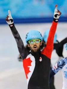 Charles Hamelin wins short-track gold, with 3 more events to go Charles Hamelin, Athletes, The Man, Olympics, To Go, Track, Canada, Colours, Events