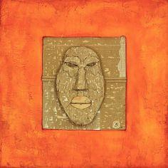Bombolo, Kopflos, Recycleter Karton auf Holz und Öl, 100 x 100 cm, 2006, 4.000 €