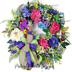 Mother's Day Wreath For Front Door, Large Summer Wreath, Floral Door Wreath, Summer Peony Wreath, Gifts for Mom Sharing a wreath by Patayla Floral Design