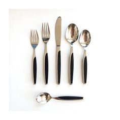 5986f529c723 Reserved Scandinavian Style Flatware - Made in Japan - Set for 6 - Stainless  Steel with Black Handles