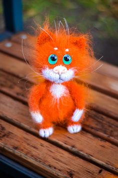 Cat  Red cat Stuffed animal Valentines day  Plush cat Kawaii Kitten Gift for her Miniature cat Figurine cat Gift for mom Best friend Gift