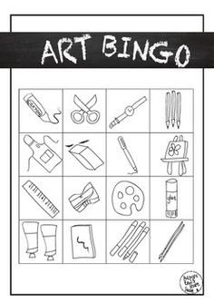 Art Bingo, crossword puzzle type clues...this item...