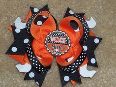 UT Vols University Of Tennessee UT Boutique Hair Bow Big Orange Bow via Etsy