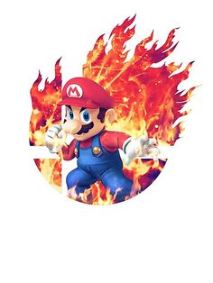 'Smash Hype - Mario' Photographic Print by Super Smash Bros, Super Mario Bros, Mario Tattoo, Nintendo Sega, Super Mario World, Mario And Luigi, Mario Brothers, Video Game Art, Les Oeuvres