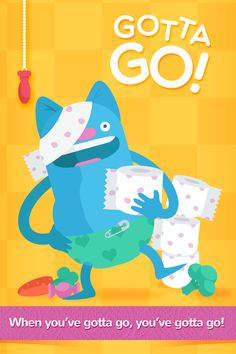 Duckie Deck Gotta Go - perfect app for potty training #illustration #parentng #iOS #design http://duckiedeck.com/apps/gotta-go