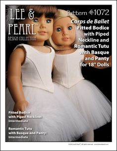 "L&P #1072: Corps de Ballet Fitted Bodice and Romantic Tutu with Basque and Panty — Dance Performance Pattern for 18"" Dolls"