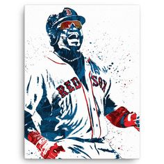"David Ortiz poster. Nicknamed ""Big Papi"", is a Dominican American professional baseball player who plays for the Boston Red Sox of Major League Baseball (MLB). Ortiz is a nine-time All-Star, a three-t"