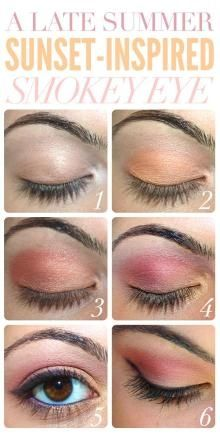 Summer Inspired Smoky Eye - Head over to Pampadour.com for product suggestions to recreate this beauty look! Pampadour.com is a community of beauty bloggers, professionals, brands and beauty enthusiasts! #makeup #howto #tutorial #beauty #smokey #smoky #eyes #eyeshadow #cosmetics #beautiful #pretty #love #pampadour #summer #sunset