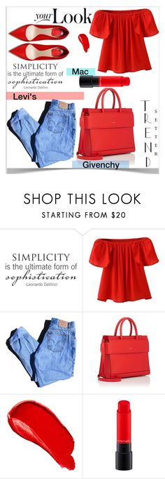 """""""Your Look"""" by boujiheidi ❤ liked on Polyvore featuring WALL, WithChic, Levi's, Givenchy, Burberry and MAC Cosmetics"""