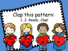 Valentine Buddies 1  - Rhythm Pattern Fun (quarter and eighth notes)  Perfect for Valentine's Day activities in the Music classroom!