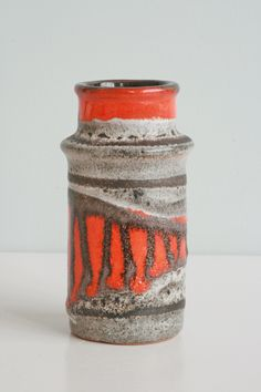 Small vase by Strehla form number 3092, West German Pottery, 1960s-70s.