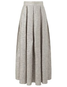 Platinum Box Pleat Skirt | Charlie Brear | Avenue32
