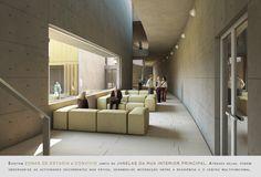 Prêmio Secil Universidades – Arquitetura: Centro Multifuncional e Residência de Estudantes  / Simão Silveira Botelho, Rua Interior do Centro Multifuncional