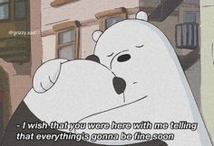 I wish that you were here with me, supporting me . cheer me up when I'm down, when there's no one with me. But then i realised that I'm… Cute Panda Wallpaper, Cartoon Wallpaper Iphone, Bear Wallpaper, Mood Wallpaper, Ice Bear We Bare Bears, We Are Bears, We Bear, We Bare Bears Wallpapers, Panda Wallpapers