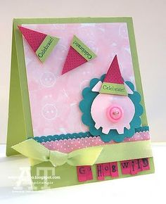 Stampin' Up!  Pennant Punch  Angie Tieman  Party Hat