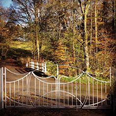Forged driveway gates by Gofannon forge mid wales. Www.gofannonforge.com