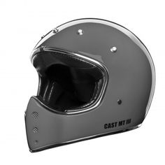 "CAST ""MT III Dark Grey"". Great looking retro moto cross helmet with ECE 22.05 and great weight to strength ratio. Made in Italy."