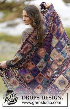 Memories Blanket By DROPS Design - Free Crochet Pattern - (garnstudio)