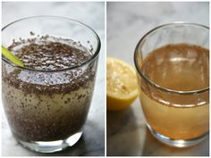 Chia fresca: Men neme (voor 1 glas): – 200 ml kokoswater – 2 eetlepels chiazaad – sap van een halve citroen – Doe het kokoswater, citroensap en de 2 eetlepels chiazaden in een glas, roer goed door. – Laat dit 15 minuten in de ijskast staan, zodat de chiazaden het vocht hebben opgenomen. – Roer nog even goed door, rietje erbij en slurpen maar!