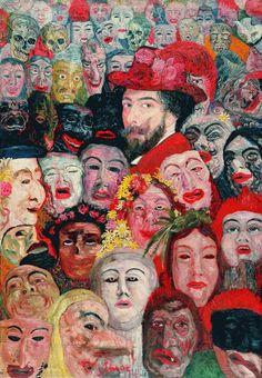 """Ensor, """"Self-Portrait with Masks"""""""