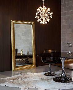 grote spiegel wit barok in woonkamer http://www.barokspiegel, Hause deko