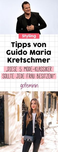 Tipps von Guido: DIESE 5 Mode-Klassiker sollte jede Frau besitzen! #guidomariakretschmer #stylingtipps #schickeraussehen #outfitideen #basics #guterstil