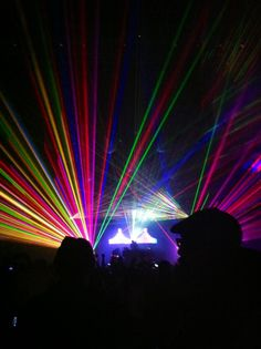 pretty lights concert lasers rave rage edm