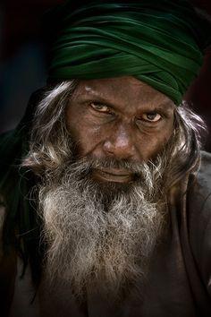 Street portrait, Old Delhi, India, by Ian Mylam.