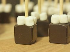 its hot chocolate. on a stick. you just stir it in. and you can make your own.