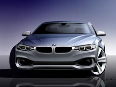 BMW 4 Series Coupe Design Sketch