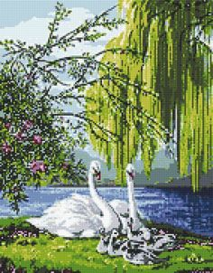 This Pin was discovered by waf Cross Stitch Tree, Cross Stitch Animals, Cross Stitch Flowers, Cross Stitch Charts, Cross Stitch Designs, Cross Stitch Patterns, Cross Stitching, Cross Stitch Embroidery, Owl Quilt Pattern