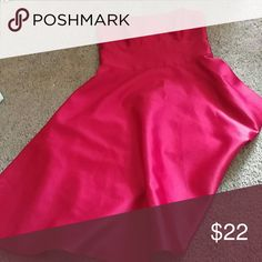 Red Gown Gorgeous red gown comes to about knee level strapless silky red material Dresses Asymmetrical