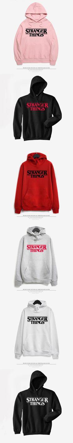 DoneBay Stranger Things Women Hoodies Short Sleeve Fashion Streetwear Hoodie Sweatshirts Men Black Casual Hooded Tops Discount