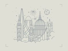 london from above illustration London Tattoo, London Skyline Tattoo, London Illustration, Graphic Illustration, London Drawing, London Sketch, City Drawing, Design Ios, Tattoo Motive