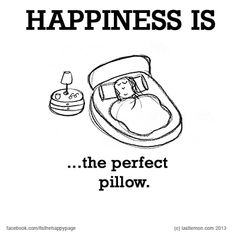 Happiness is the perfect pillow.