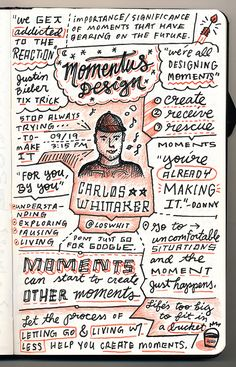 Carlos Whittaker - Momentus Design - from Circles Conference, via the Creative Market Blog #circles2013