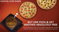 Buy 1 Get 1 Free Pizza offer from Dominos India