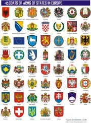 Coats of Arms of States in Europe - vector clipart, vector images Templer, Historical Maps, European History, Asian History, Tudor History, British History, Flags Of The World, Vector Clipart, Knights Templar