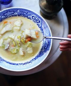 creamy-yet-light fish chowder