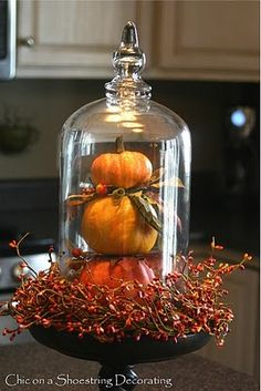 Love this for fall. End table or mantle