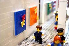 Lego Damien Hirst butterflies collages
